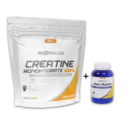 Maximalium Creatine Monohidrate 500g + Beta Alanine 100g